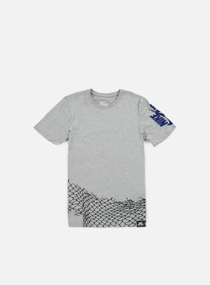 Nike - Air Chain Fence T-shirt, Dark Grey Heather/Deep Royal Blue