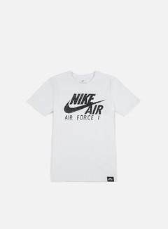 Nike - Air Force 1 T-shirt, White/White/Black 1