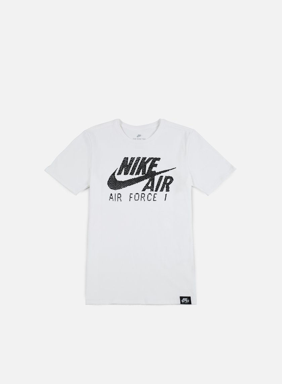 Nike - Air Force 1 T-shirt, White/White/Black