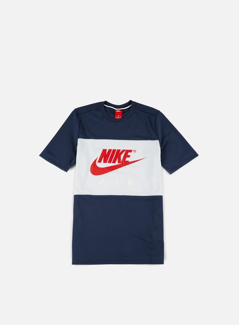 t shirt nike air mesh t shirt thunder blue university red