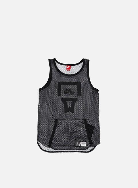 t shirt nike air pivot v3 mesh jersey black black white