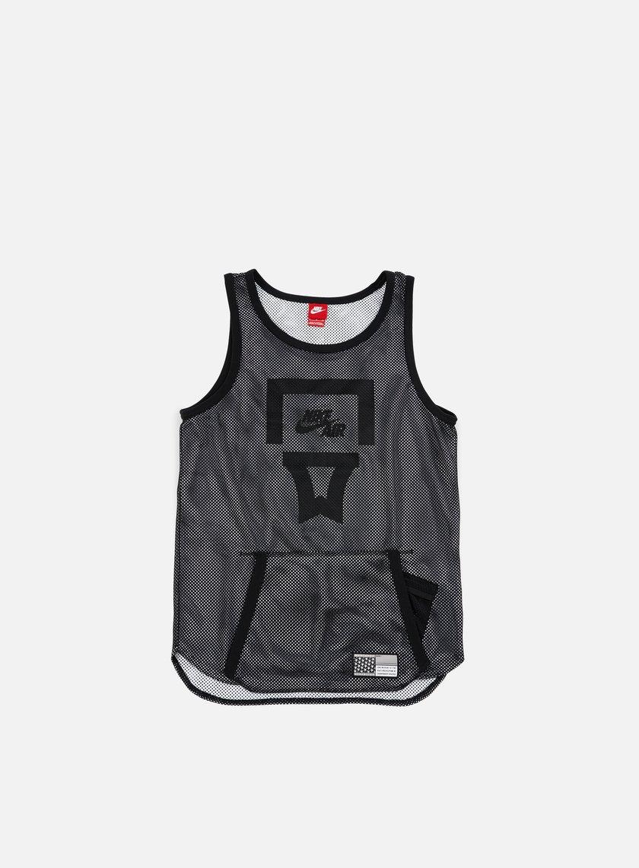 Nike - Air Pivot V3 Mesh Jersey, Black/Black/White