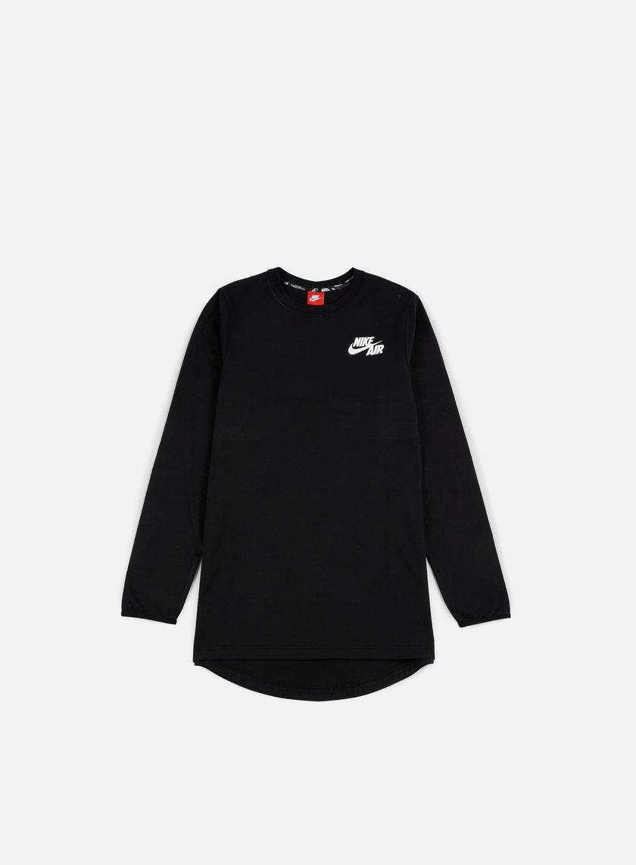 Nike - Air Top LS T-shirt, Black/White