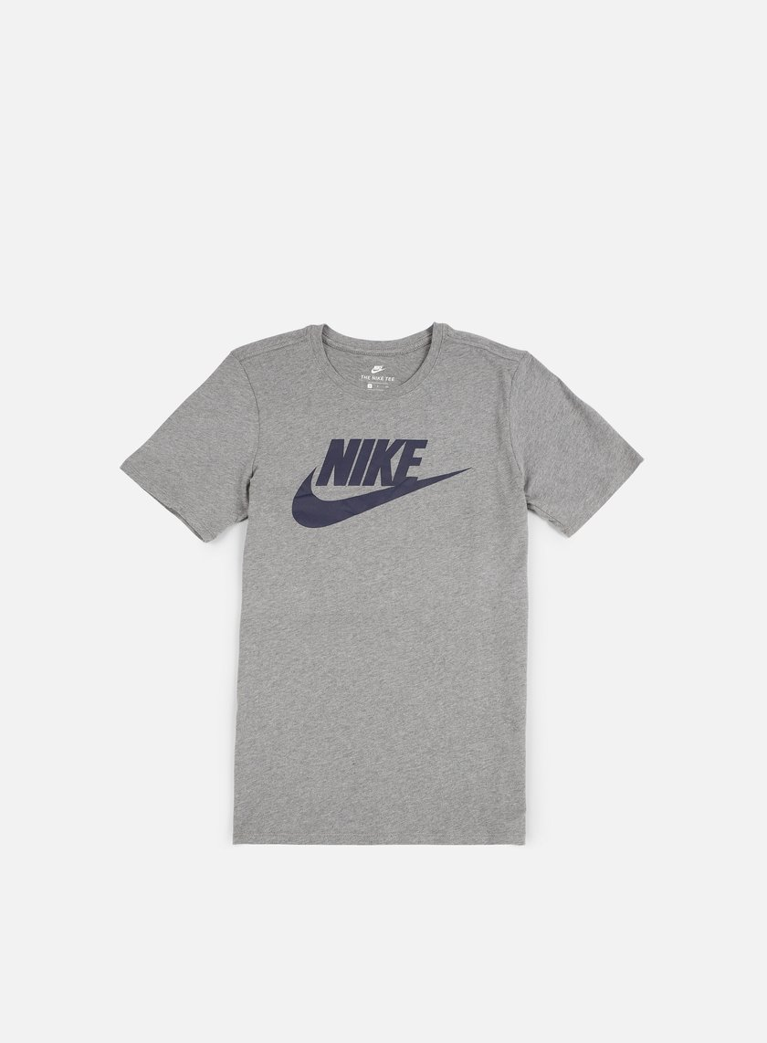 Nike - Futura Icon T-Shirt, Carbon Heather/Obsidian