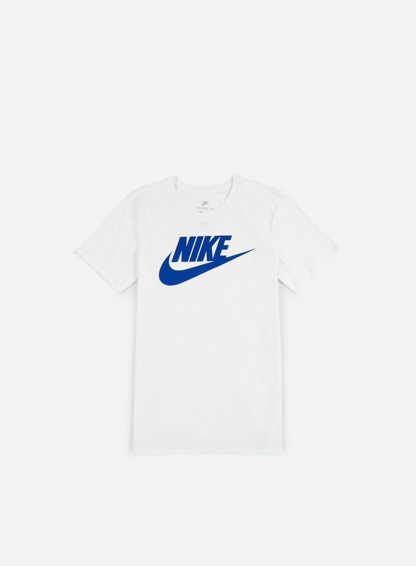 Nike - Futura Icon T-Shirt, White/Game Royal