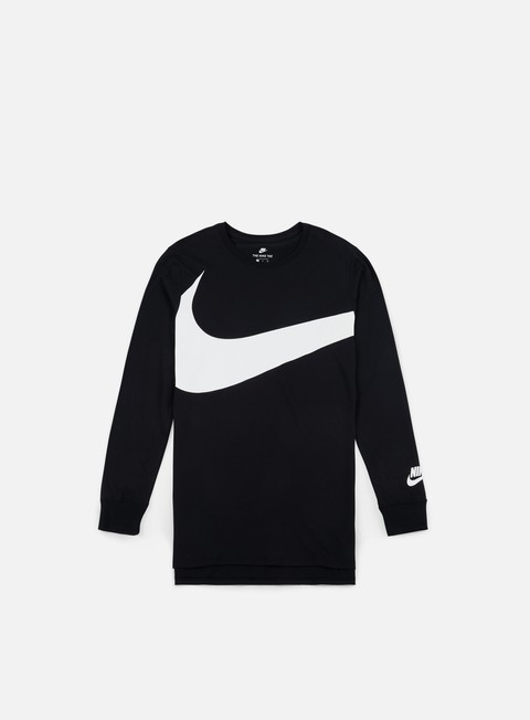 t shirt nike hybrid ls t shirt black white
