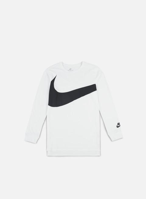 t shirt nike hybrid ls t shirt white anthracite