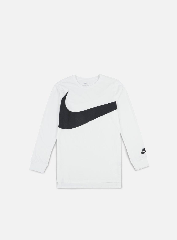 Nike - Hybrid LS T-shirt, White/Anthracite