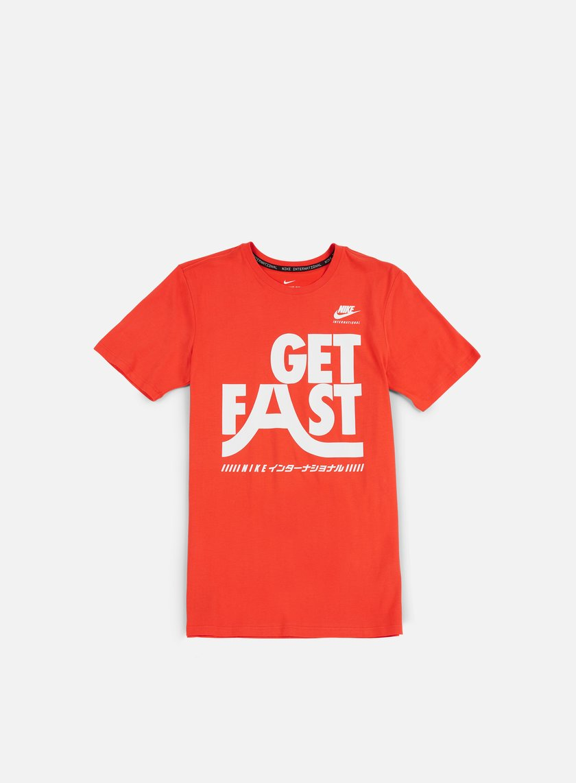 Nike - International T-shirt, Max Orange/White