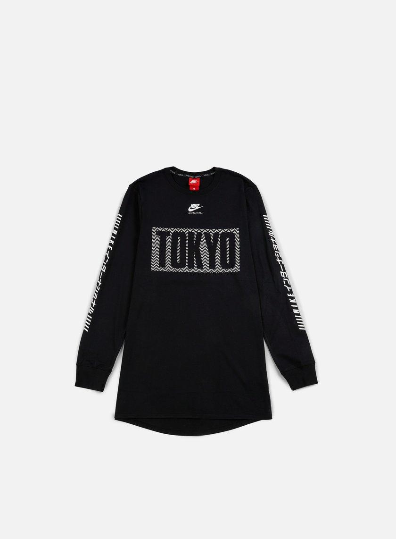 Nike - International Tokyo LS T-shirt, Black