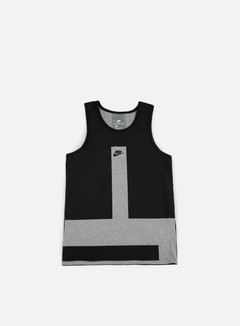 Nike - Modern Tank Top, Carbon Heather/Black 1
