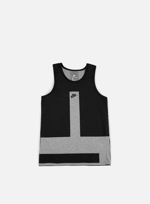 t shirt nike modern tank top carbon heather black