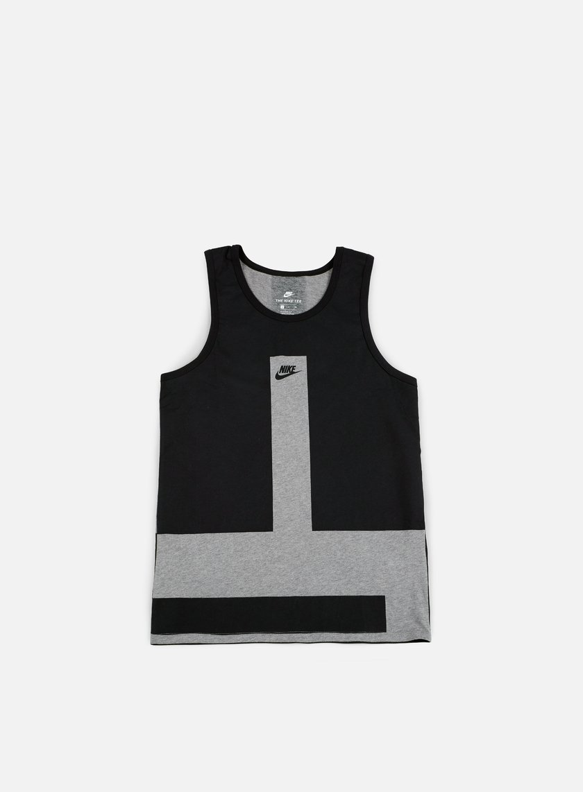 Nike - Modern Tank Top, Carbon Heather/Black
