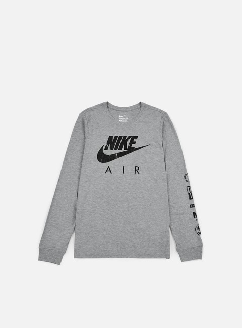 t shirt nike nike air ls t shirt carbon heather black