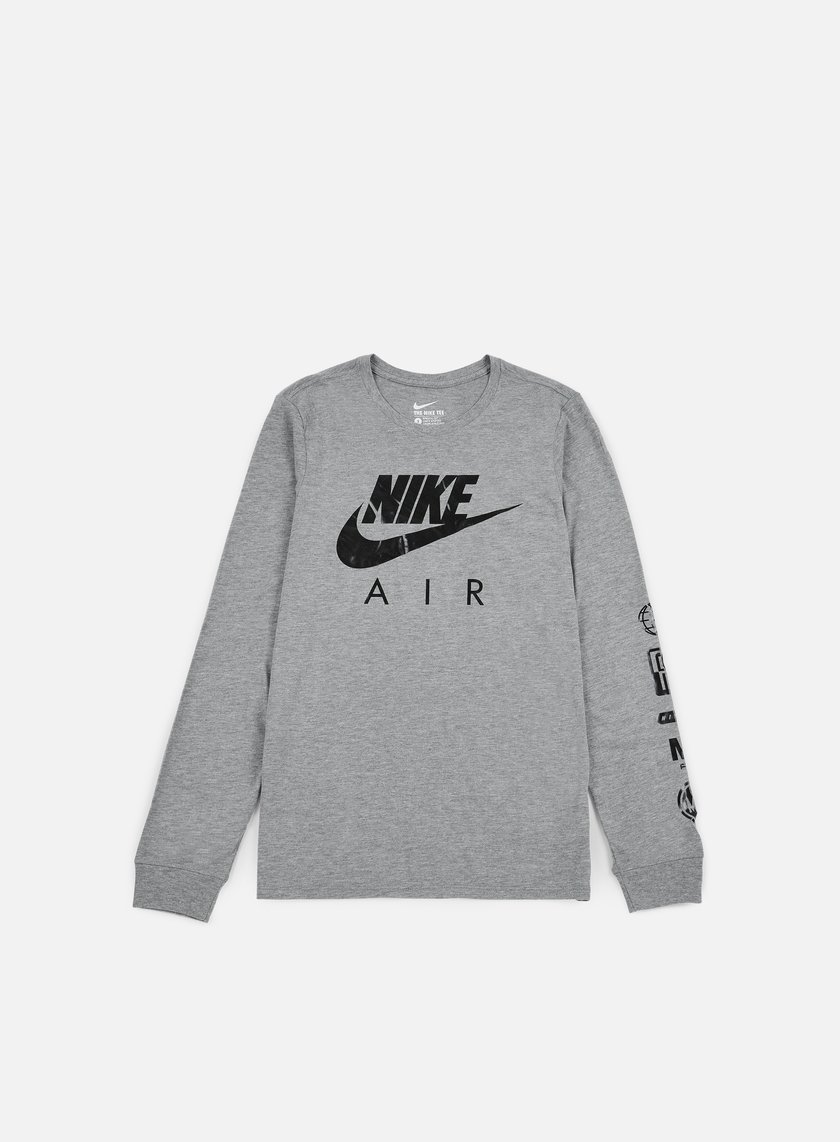Nike - Nike Air LS T-shirt, Carbon Heather/Black