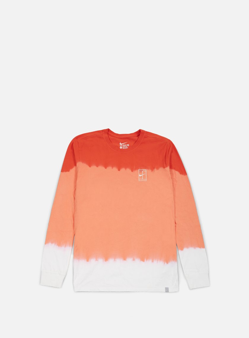 Nike - Nike Court LS T-shirt, White/Light Crimson