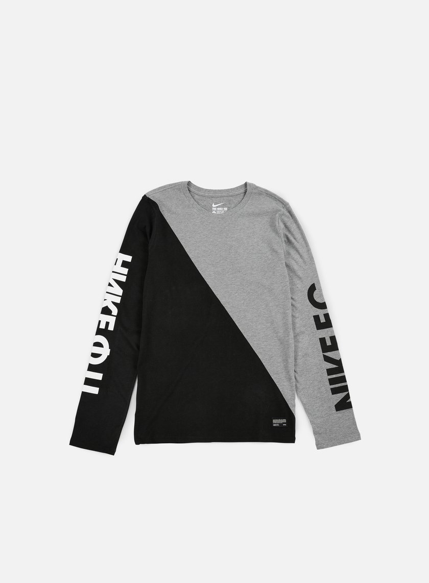 Nike - Nike FC LS T-shirt, Carbon Heather/Black