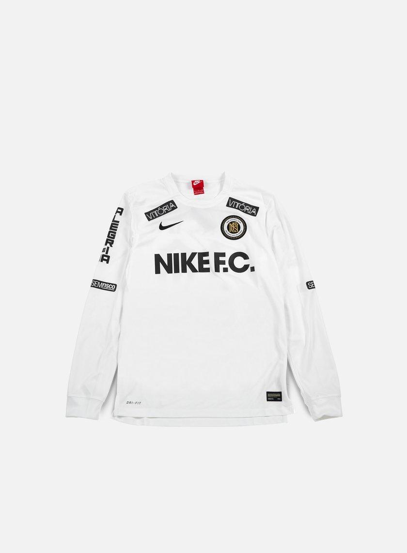 Nike - Nike FC LS Top, White/Black