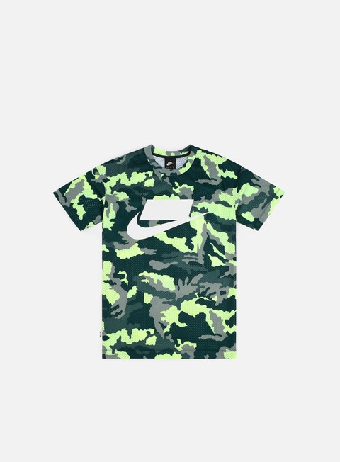 t shirt nike nsw top mesh t shirt midnight spruce white