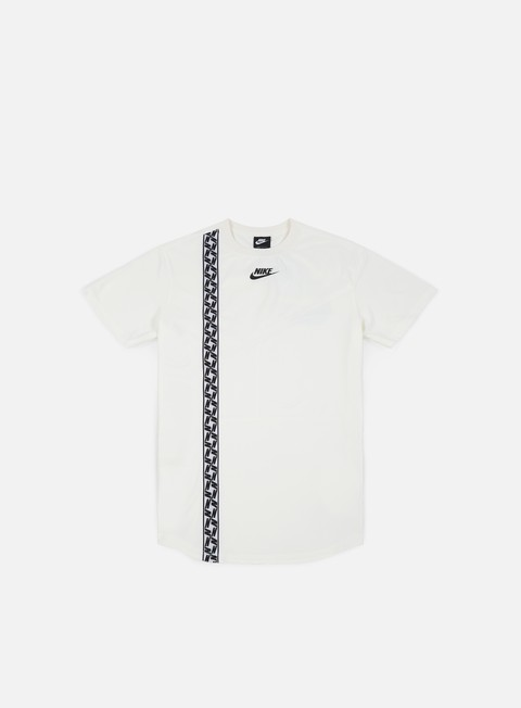t shirt nike nsw top taped poly t shirt sail black