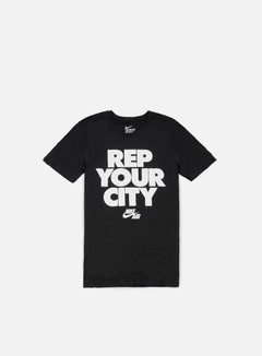 Nike - Rep Your City T-shirt, Black/White