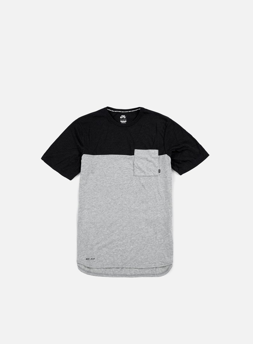 Nike SB - Dri-Fit Blocket Pocket T-shirt, Dark Grey Heather/Black Heather