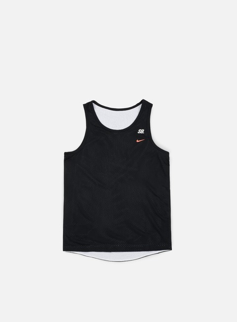 t shirt nike sb dri fit reversible tank black white solar red
