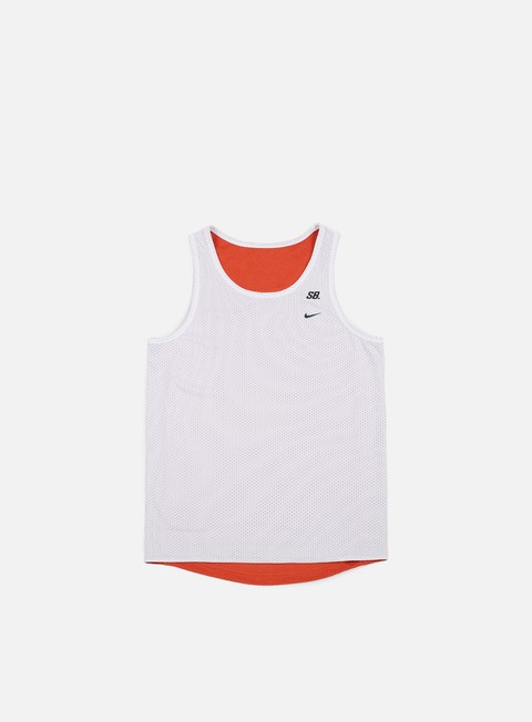 t shirt nike sb dri fit reversible tank white vintage coral deep jungle