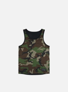 Nike SB - Dry Mesh Tank, Black/Medium Olive/White
