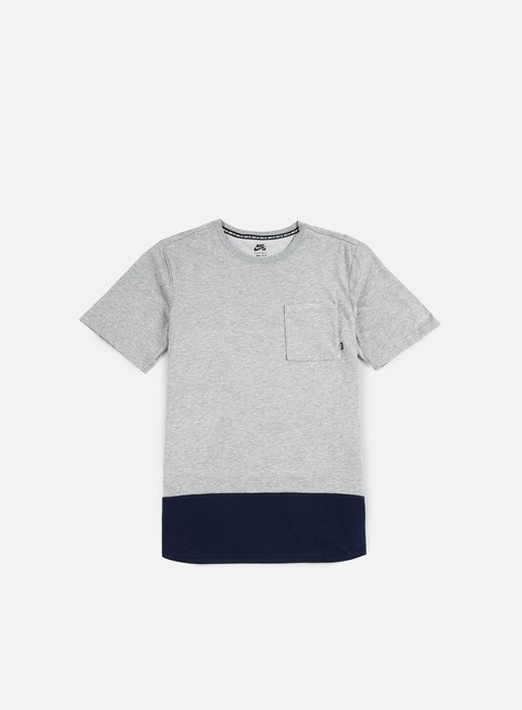 t shirt nike sb dry top t shirt dark grey heather obsidian