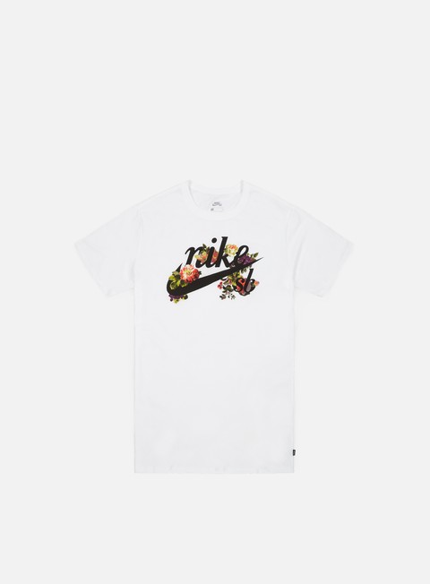 t shirt nike sb floral logo t shirt white black