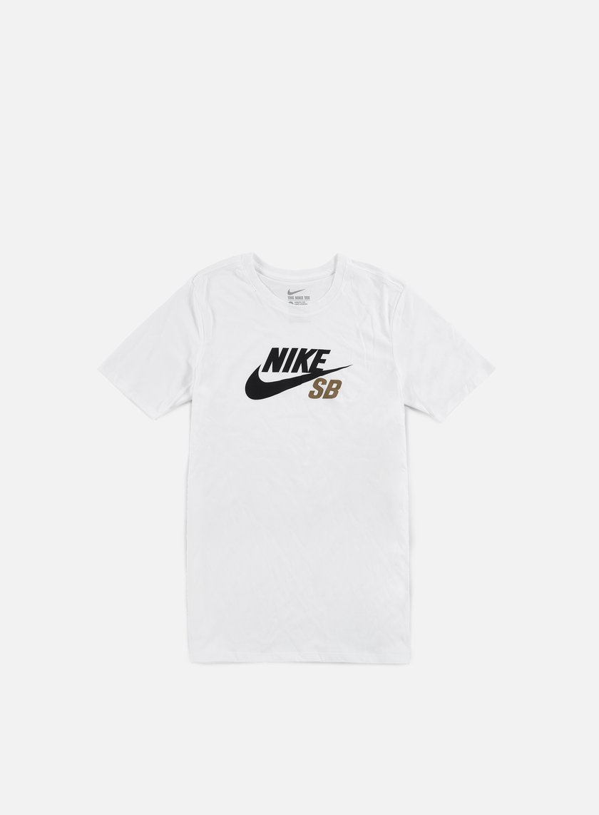 Nike SB - Icon Logo T-shirt, White/Khaki