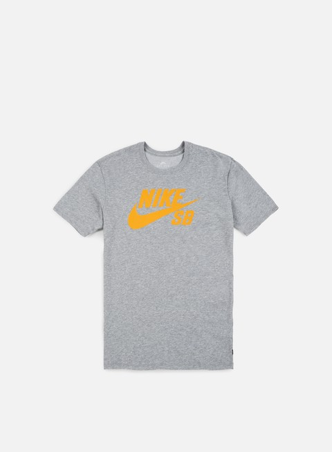 t shirt nike sb sb logo t shirt dark grey heather laser orange