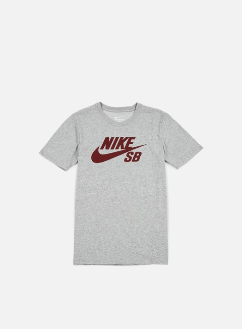 t shirt nike sb sb logo t shirt dark grey heather team red