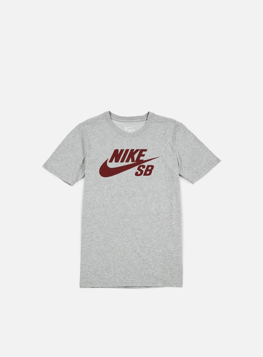 Nike SB - SB Logo T-shirt, Dark Grey Heather/Team Red