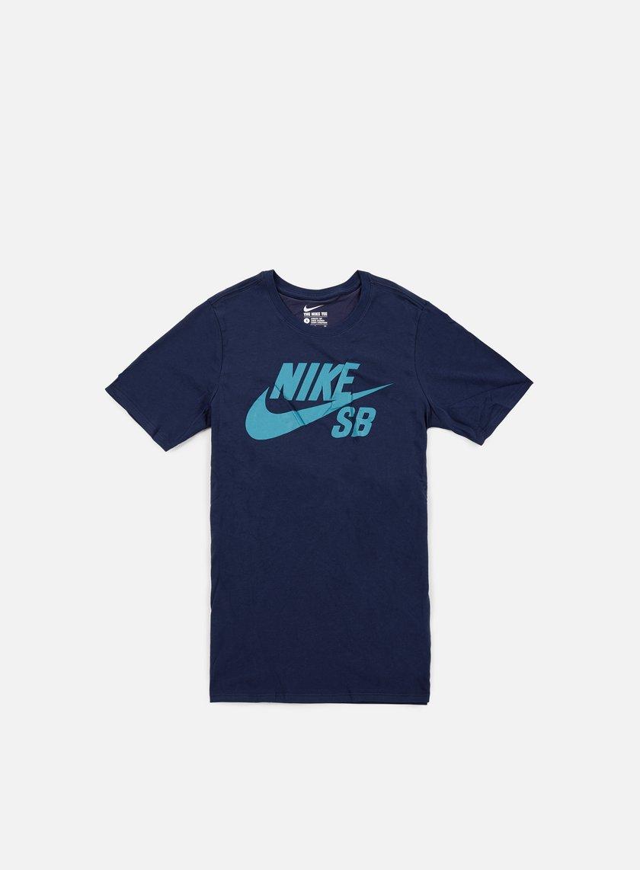 Nike SB - SB Logo T-shirt, Obsidian/Rio Teal