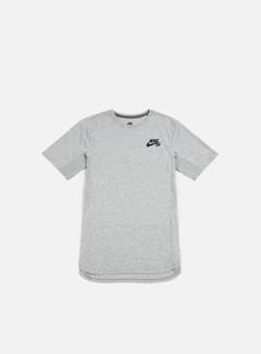 Nike SB - Skyline Cool T-shirt, Dark Grey Heather/White 1