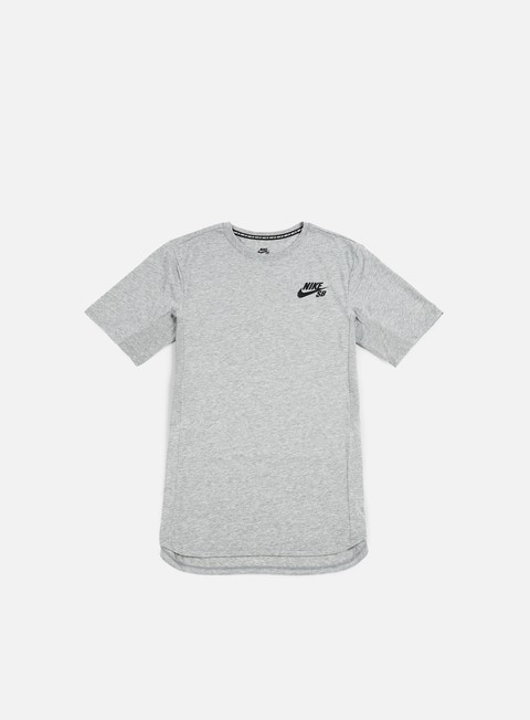 t shirt nike sb skyline cool t shirt dark grey heather white