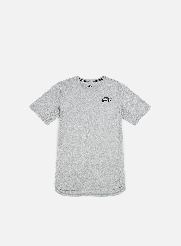 Nike SB - Skyline Cool T-shirt, Dark Grey Heather/White