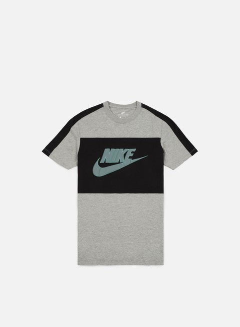 t shirt nike sport block t shirt dark grey heather cool grey