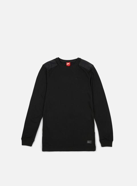 t shirt nike sportswear af1 ls t shirt black black