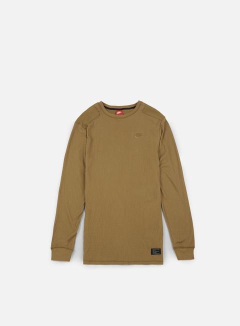 t shirt nike sportswear af1 ls t shirt golden beige golde beige