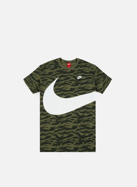 t shirt nike swoosh aop t shirt medium olive white white