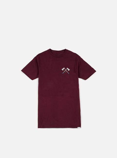 t shirt nixon edger t shirt burgundy