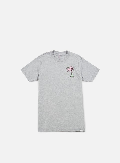 t shirt nixon paint palm t shirt heather grey