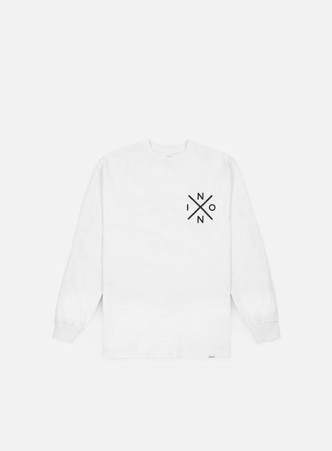 t shirt nixon spot ls t shirt white