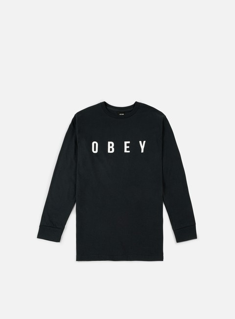 t shirt obey anyway ls t shirt black