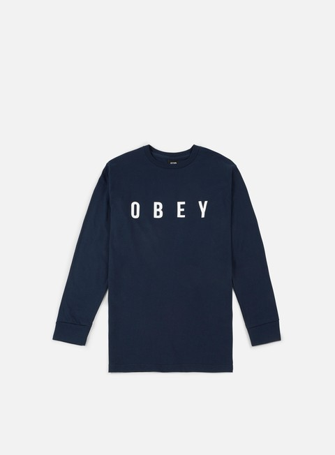 t shirt obey anyway ls t shirt navy