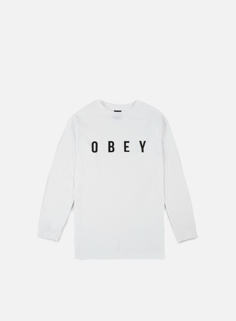 t shirt obey anyway ls t shirt white