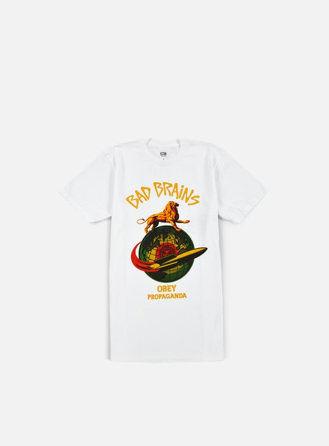 Outlet e Saldi T-shirt a Manica Corta Obey Bad Brains Rocket T-shirt